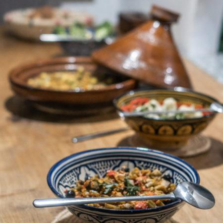 homemade cuisine blue mind morocco surf yoga